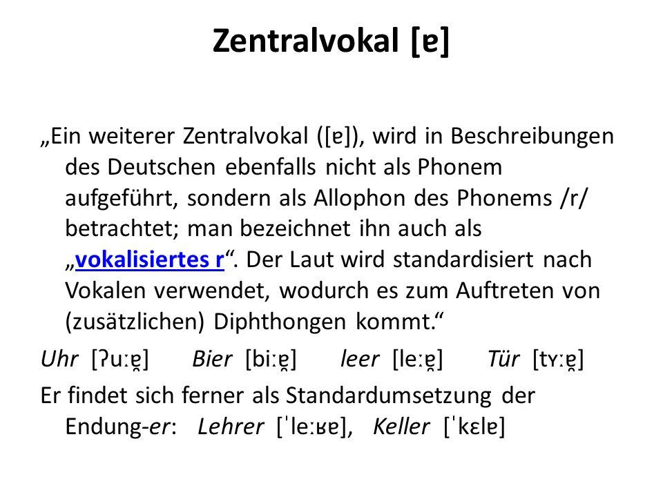 Zentralvokal [ɐ]